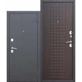 Metāla durvis GARDA M6, muar melns
