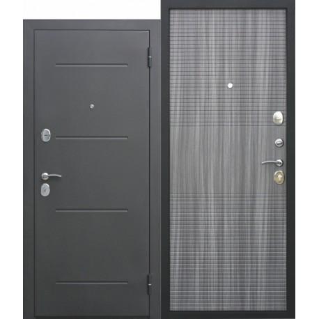 Metāla durvis GARDA M, muar melns / venge tobako