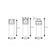 """10"""" Filtru komplekti aukstajam ūdenim - 3 dalīgie, ar uzgriezni Aquafilter FHPR-3B sērijas"""