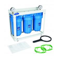"""10"""" BigBlue Trīs korpusu filtru sistēmas aukstajam ūdenim Aquafilter HHBB10B sērijas"""