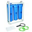 """20"""" BigBlue Trīs korpusu filtru sistēmas aukstajam ūdenim Aquafilter HHBB20B sērijas"""