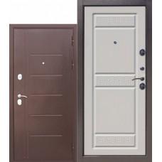 Metāla durvis TORJA A, antīks varš / balts osis