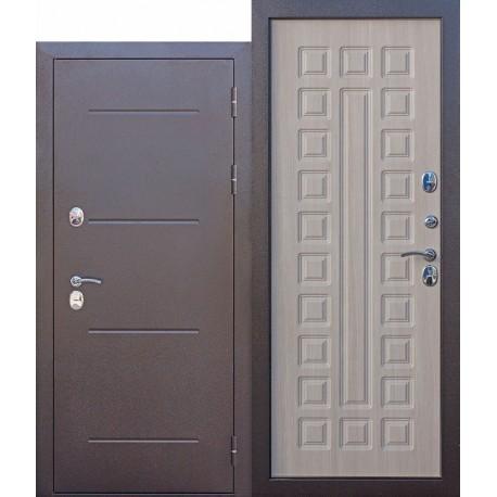 Metāla durvis ISOTERMA, antīks varš / mokko lapegle